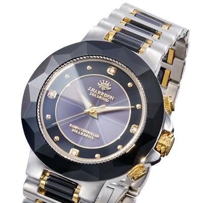 ダイヤモンド4石ソーラー電波腕時計
