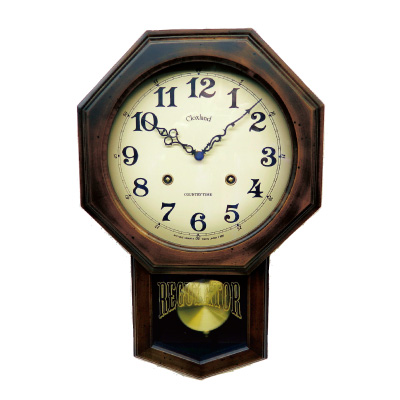日本製アンティーク電波振り子時計