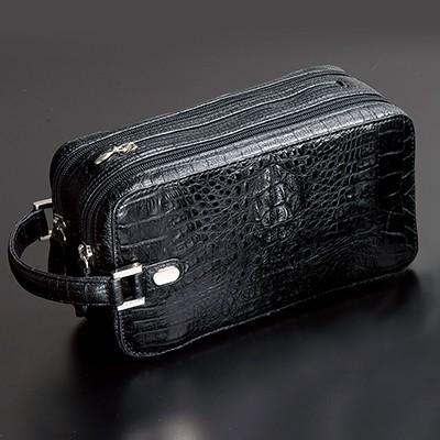 紳士ワニ革セカンドバッグ