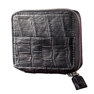 クロコダイル革コンパクト財布