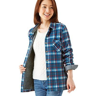 <日本直販> 毛布のような裏起毛シャツ