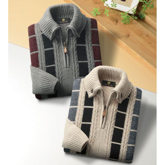 <ジャックブラウン>ハーフジップセーター2色組