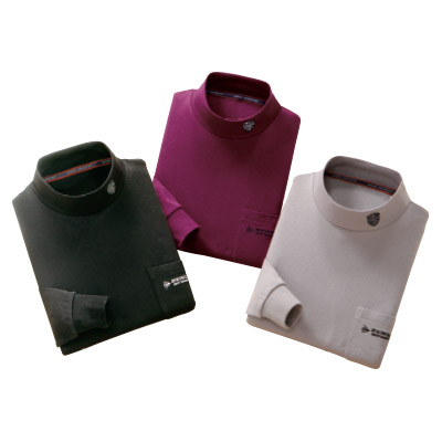 DMSやわらかハイネックシャツ3色組