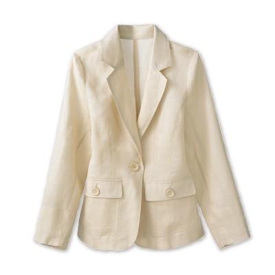麻100%テーラードジャケット2色組