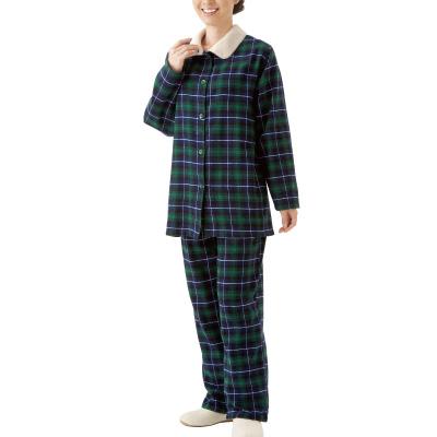 暖かボア付きパジャマ2色組