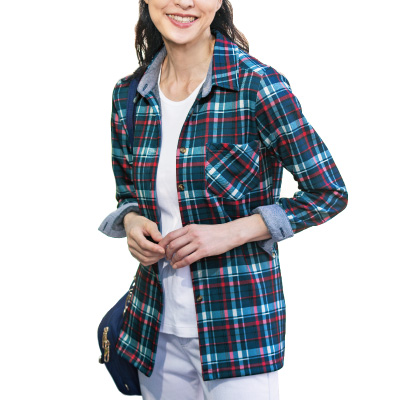 毛布のような裏起毛ニットシャツ2色組