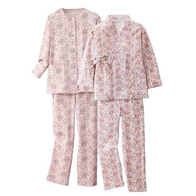 綿100% 親切設計パジャマ2色組