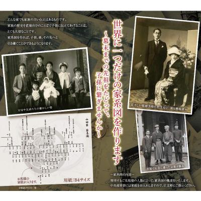 <日本直販> 本格家系図セット画像