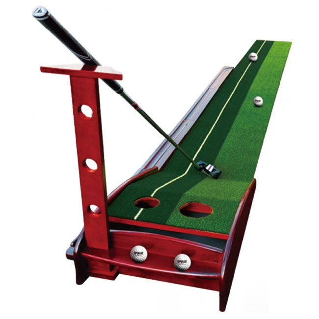 天然木ゴルフパター練習セット