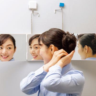 ドアハンガー3面鏡