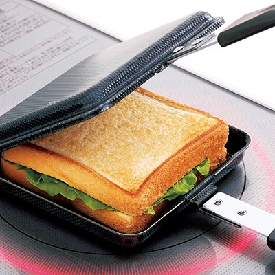両面エンボス鉄製トースターパン