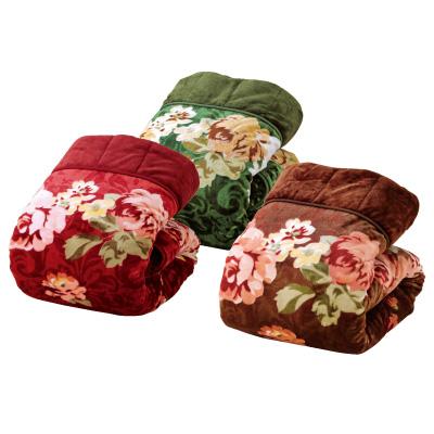 ふっくら3枚合わせ毛布3色組