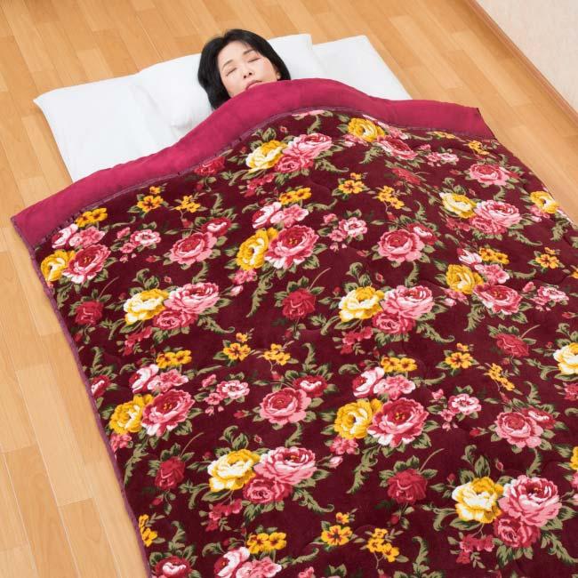 アルミシート入り5層構造 衿付きボリューム毛布布団