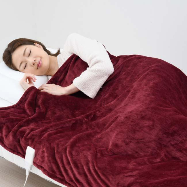空気をキレイにする電気掛敷毛布