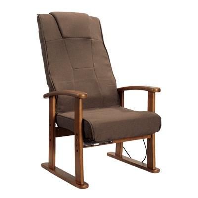 <日本直販> ブラックヒーター付き座椅子