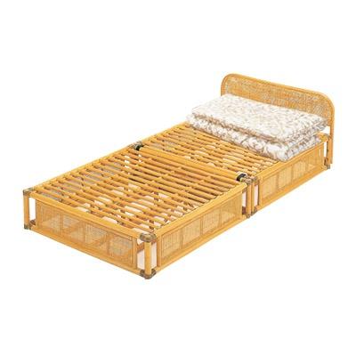 籐すのこベッド