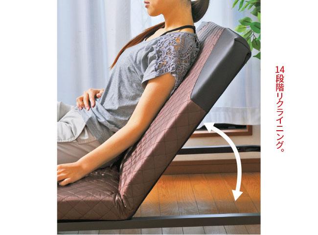 リクライニング可:年中使える折りたたみベッド