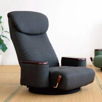 木製ボックス肘付き回転座椅子