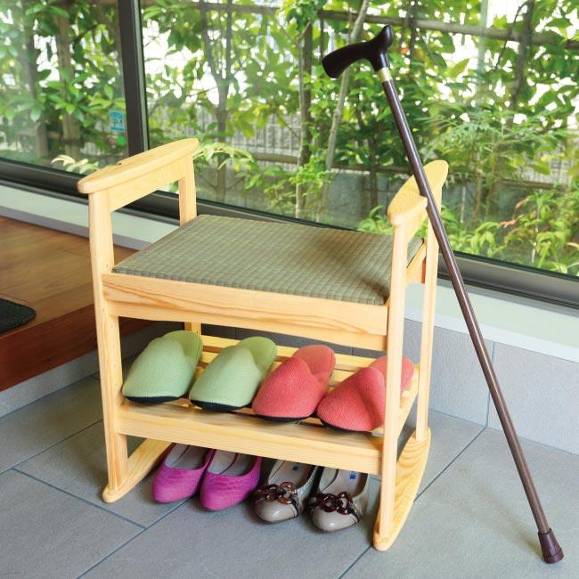 畳に腰掛け タタミスツール