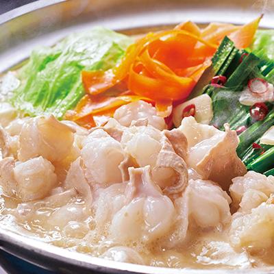 「日本料理てら岡」博多もつ鍋 みかん胡椒付き
