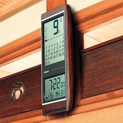 <日本直販> カシオ カレンダー電波掛時計