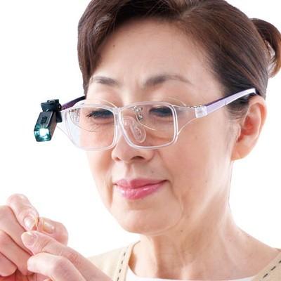 ライト付き眼鏡型ルーペ