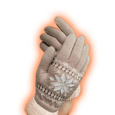 指先あったか手袋2色組