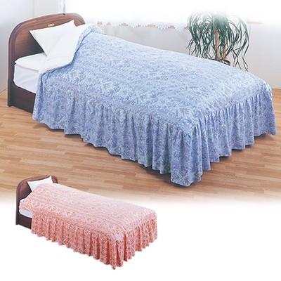 フリル付きベッド用掛ふとんカバー