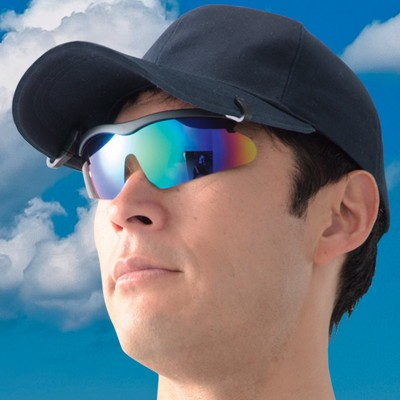 はね上げサングラス付きキャップ2色セット