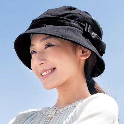 風に飛ばされにくい小顔UV帽子