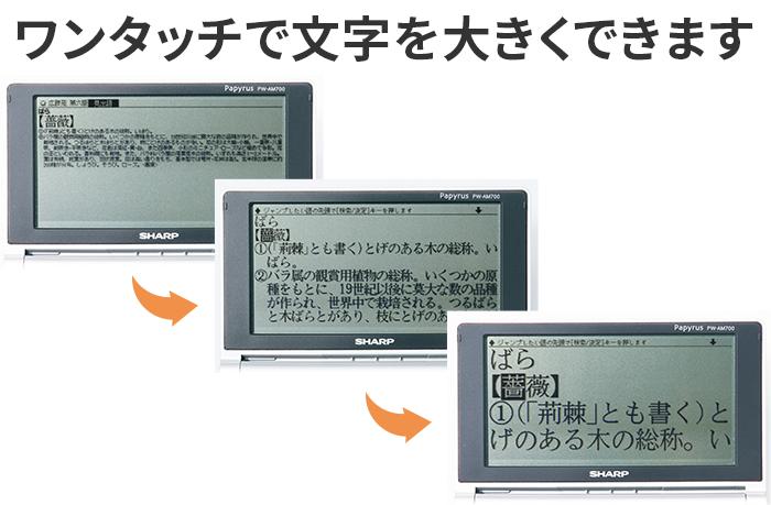 SHARP コンパクト電子辞書